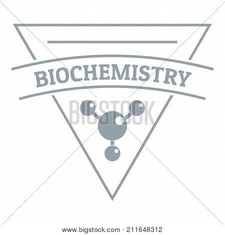 Biochemistry logo. Simple illustration of biochemistry vector logo for web poster