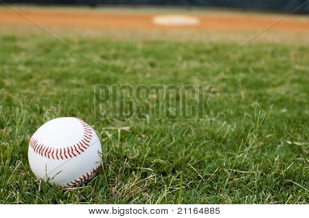 Baseball On Field