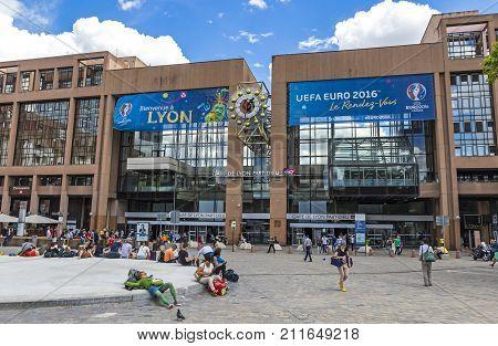 Railway Station In Lyon, France (gare De Lyon-part-dieu)
