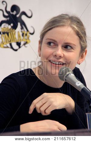 Rose McIver attends the annual Stan Lee's Los Angeles Comic Con 2017 Expo at the Los Angeles Convention Center on Oct. 28, 2017.