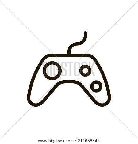 Joystick Flat Icon Single High Vector Photo Bigstock