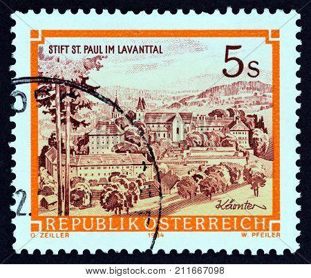 AUSTRIA - CIRCA 1984: A stamp printed in Austria from the