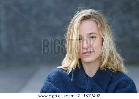 Attractive Thoughtful Young Woman In Fall