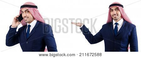 Set of photos with businessman