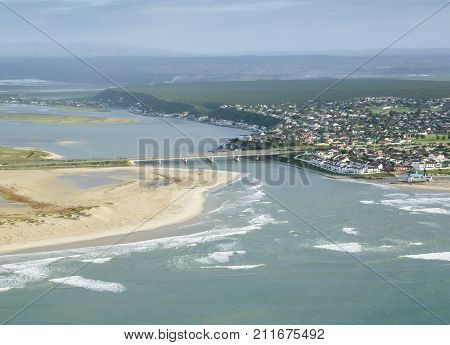 Swartkops river estuary in port elizabeth south africa in rainy conditions