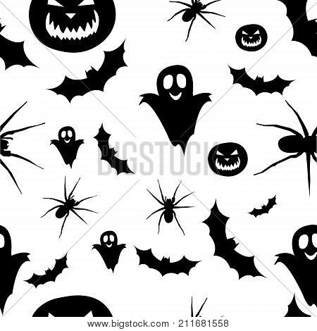 Pattern for Helloween background. Adaptive for web.