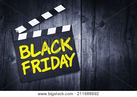 Movie clapper board with BLACK FRIDAY tittle