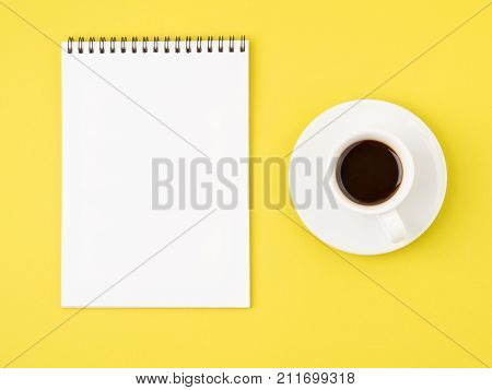 Notepad Open With White Blank Page For Writing Idea Or To-do List,
