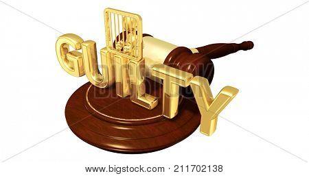Guilty Plea Concept The Original 3D Character Illustration Behind Bars