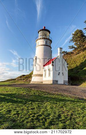 Heceta Head Lighthouse, Pacific coast, built in 1892, Oregon USA