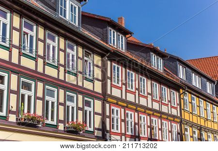 Colorful Houses In The Historic Center Of Wernigerode, Germany