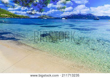 Playa de Formentor (Cala Pi de la Posada ) - beautiful beach at Cap Formentor Palma Mallorca Spain