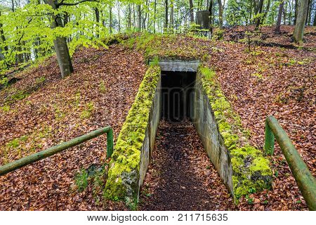 Old military bunker on Wolin Island in Poland