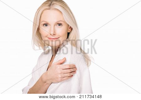 Mature Woman In Bath Robe