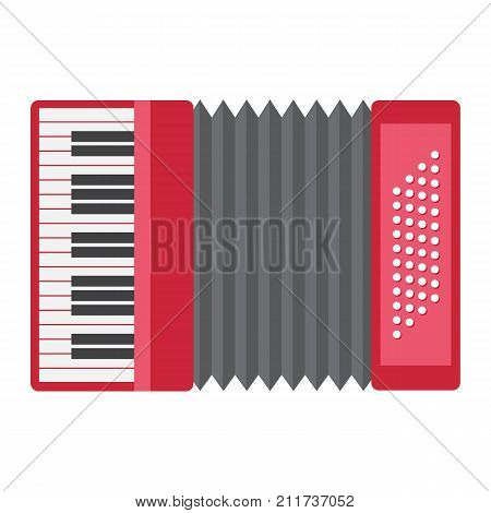 Accordion flat icon, music and instrument, sound sign vector graphics, a colorful solid pattern on a white background, eps