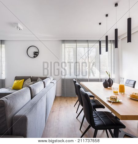 Modern Interior With Communal Table
