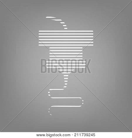 3d printing and scanning technology vector icon for web design