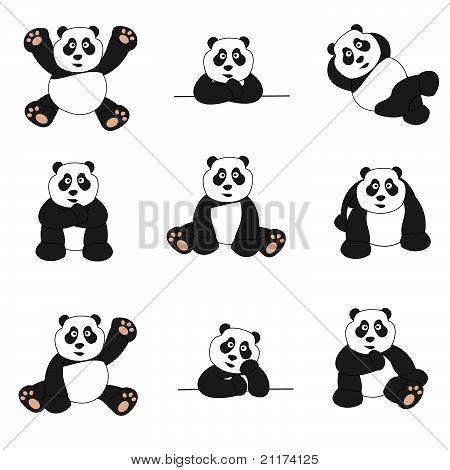 Cute Panda Set
