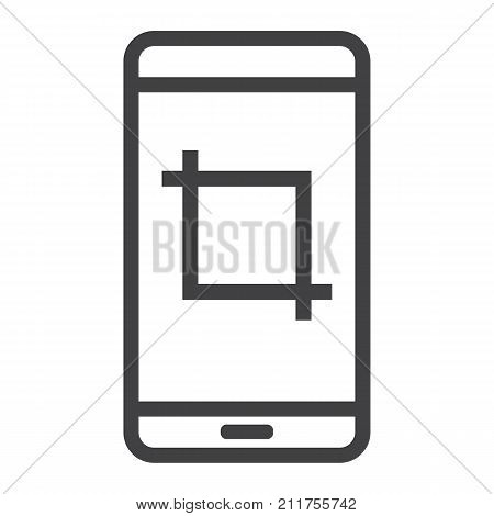 Screenshot line icon, web and mobile, camera sign vector graphics, a linear pattern on a white background, eps 10.