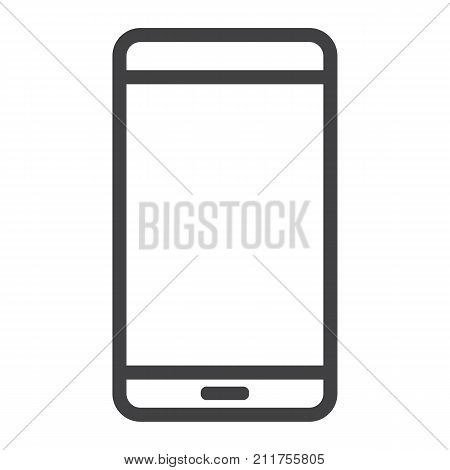 Smartphone line icon, web and mobile, mobile phone sign vector graphics, a linear pattern on a white background, eps 10.