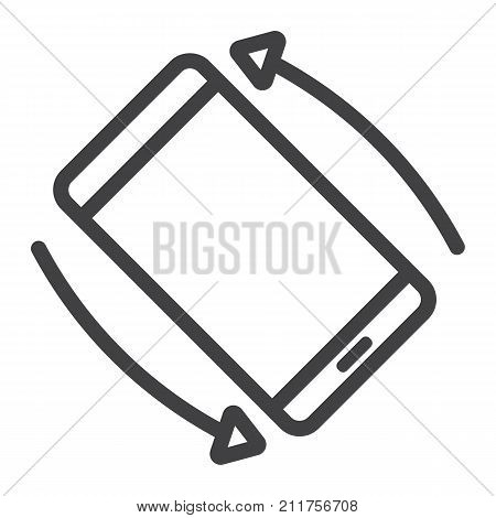 Rotate Smartphone line icon, web and mobile, screen rotate sign vector graphics, a linear pattern on a white background, eps 10.