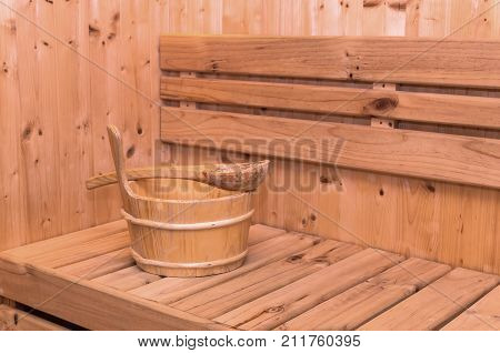 Hot Sauna Room accessory and no people