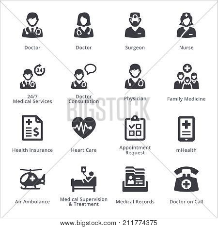 Medical Services Icons Set 1 - Sympa Series | Black