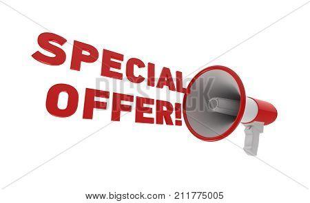 Megaphone. Special Offer Concept.