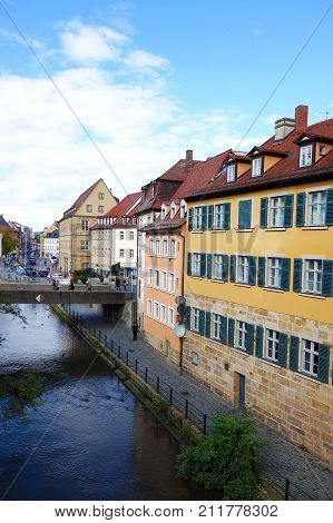 View of Old Town in Bamberg Germany
