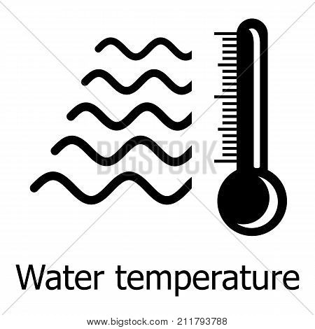Water temperature icon. Simple illustration of water temperature vector icon for web
