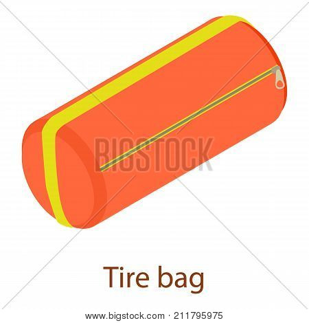 Sport bag icon. Isometric illustration of sport bag vector icon for web