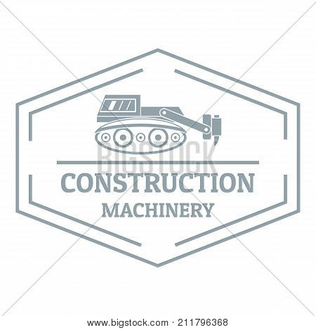 Construction machinery logo. Simple illustration of construction machinery vector logo for web