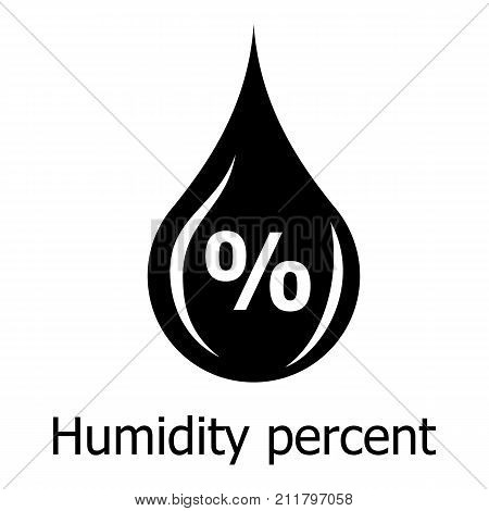Humidity percent icon. Simple illustration of humidity percent vector icon for web