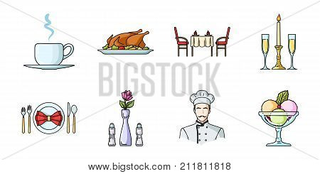 Restaurant and bar icons in set collection for design. Pleasure, food and alcohol vector symbol stock  illustration.