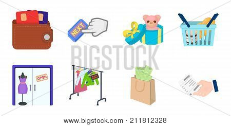 E-commerce and business icons in set collection for design. Buying and selling vector symbol stock  illustration.