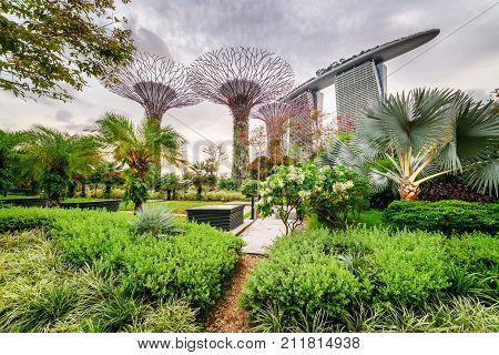 Scenic View Of Gardens By The Bay In Singapore