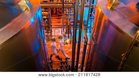 milk factory production industrial worker machinery technology