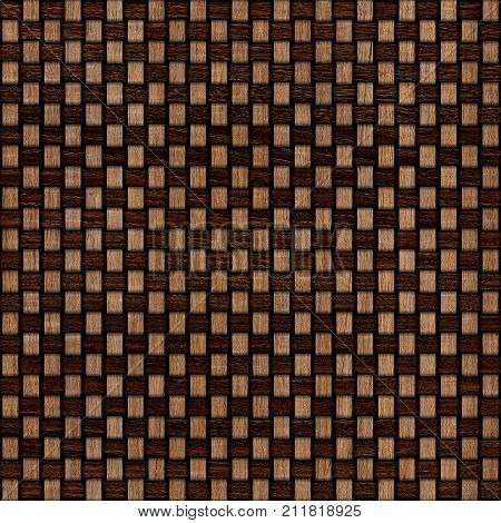 Wooden weave texture background. Abstract decorative wooden textured basket weaving background. Seamless pattern