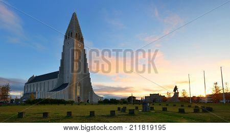 Hallgrimskirkja Cathedral a Lutheran parish church in Reykjavik Iceland