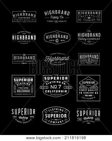 Vintage Logo, Insignia and Badge Bundle 3. perfect for identity, logo, insignia or badge design with retro vintage looks. it is also good for print design such clothing line, merchandise etc.