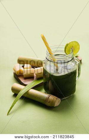 sugar cane juice or