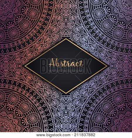 Indian floral paisley seamless ornament pattern. Ethnic Mandala towel, yoga mat. Vector Henna tattoo style. Can be used for textile, greeting business card background, coloring book, phone case print