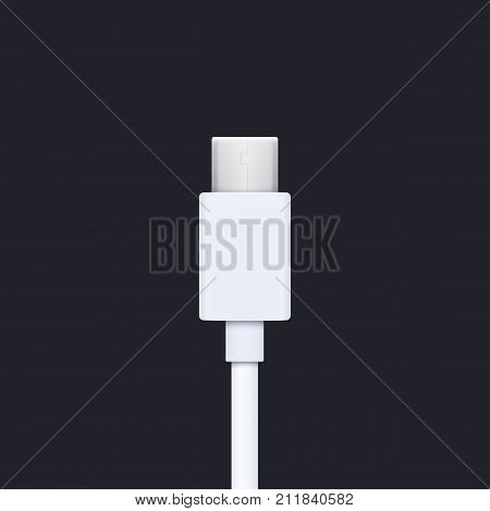 usb type c plug, eps 10 file, easy to edit
