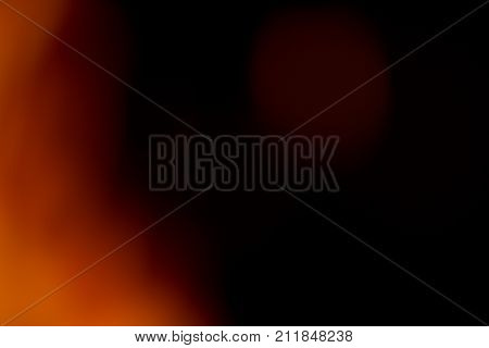 Abstract light flares on the black background for designers and retouch to apply in screen regime to compose the picture.