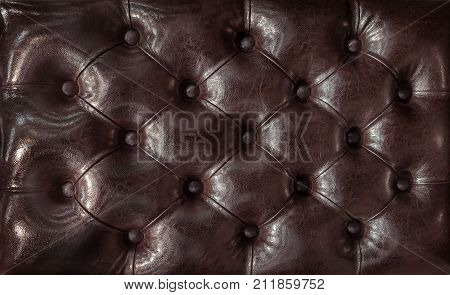 Decorative background of genuine leather capitone texture