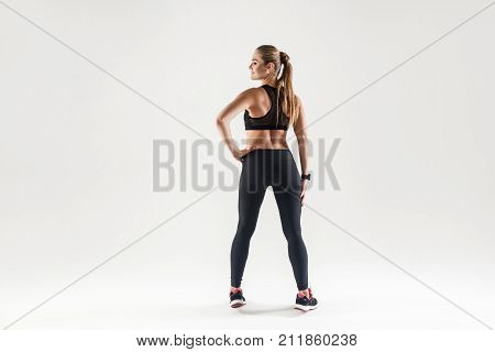 Back View Sexy Attractive And Fitness Girl