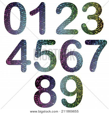 colorful illustration with numbers on white background