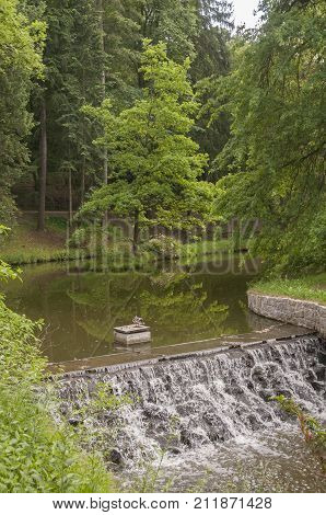 It is image of interesting place Pruhonice park.