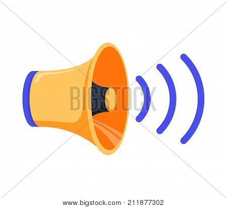 Sound louder icon. cartoon illustration of sound louder vector icon isolated on white for web. Sound icon vector Speaker Isolated on white background. Volume on off concept with Audio waves.