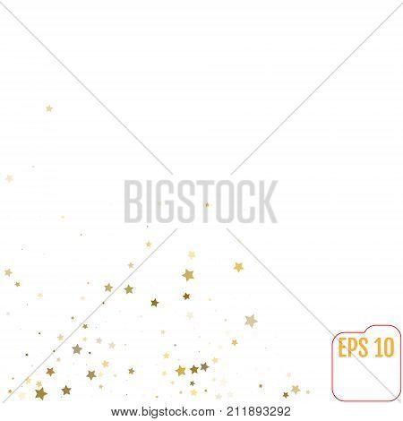 Star Falling Print And Modern Creative Pattern. Silver Starry Ba